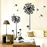 Lisingtool Decor,New Creative Dandelion Wall Art Decal Sticker Removable Mural PVC Home Decor Gift