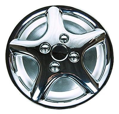 """Chrome 13"""" Hub Caps Full Wheel Rim Covers w/Steel Clips (Set of 4) - KT-871"""