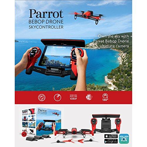 Parrot Bebop Drone 1400万画素 魚眼レンズ カメラ付 クワッドコプター スカイコントローラーセット (レッド)