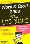 Word & Excel 2003 pour les nuls