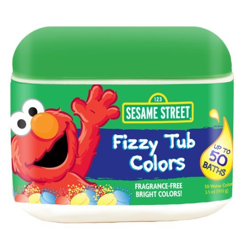 Sesame Street Fizzy Tub Colors 50 Count front-941006