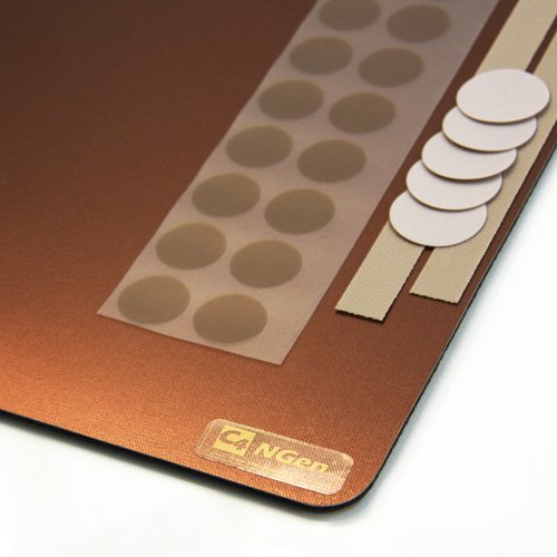"CS Hyde C4-NGen Large Mousepad with Gear, Copper Color, 14"" x 9.5"""
