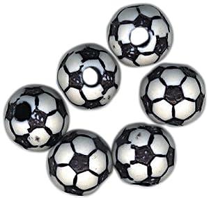 Sports Ball Beads 12mm-Soccer Ball 12/Pkg