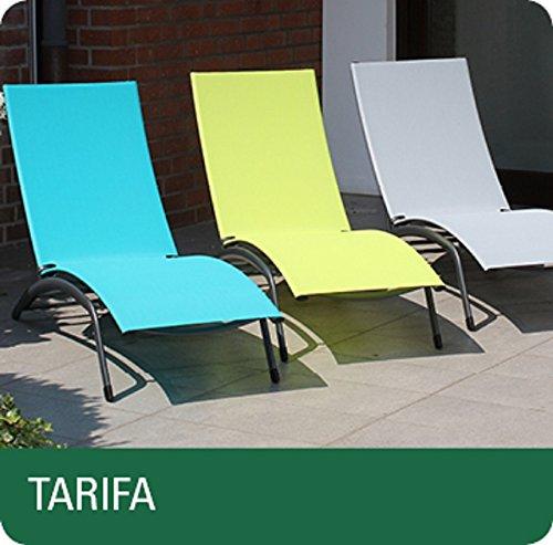Siena Garden 282137 Tarifa Liege, anthrazit/natur Alu/anthrazit, Bezug/natur günstig kaufen