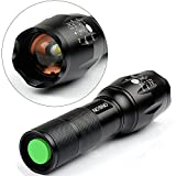 ONSON LED Flashlight,1000 Lumens Rechargeable Flashlight,Zoomable and Waterproof LED Outdoor Handheld Flashlight,Adjustable Focus and 5 Light Modes for Camping Hiking etc,battery Not Included