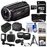 Sony Handycam HDR-PJ670 Projector 1080p HD Video Camera Camcorder + 64GB Card + Case + LED Light + Microphone + Battery + Tripod + Tele/Wide Lens Kit