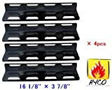 92071 (4-pack) Replacement Porcelain Steel Heat Plate for Select Gas Grill Models By Kenmore, Master Forge and Others