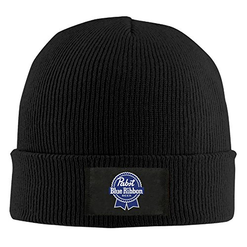 unisex-pabst-blue-ribbon-logo-acrylic-wool-hat-black