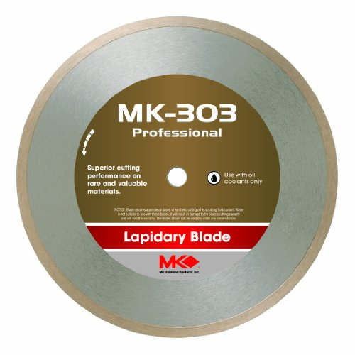 Mk Diamond 153744 Mk-303 Professional 6-Inch Diameter Lapidary Blade By .014-Inch Wide By 1/2-Inch Arbor