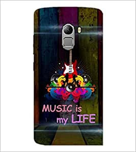 PRINTSWAG MUSIC GUITAR Designer Back Cover Case for LENNOVO VIBE K4 NOTE