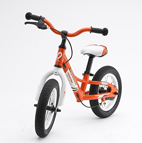 Tykesbykes 12 Inch Balance Bike Orange front-153693