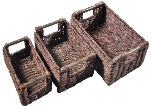 High Quality & Interesting Home Decor & Organisation Gifts - Hand Woven Basket 3 Set