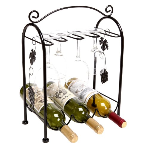 Grape Arbor Style Tabletop Wine Glass Metal Organizer