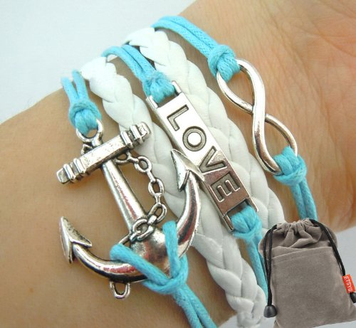 Vintage Silver Infinity Bracelet Love Nautical