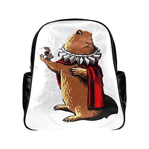 sljd-unisex-dramatic-chipmunk-prairie-dog-black-stylish-multi-pocket-backpack