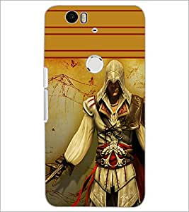 PrintDhaba Warrior D-1891 Back Case Cover for HUAWEI NEXUS 6P (Multi-Coloured)