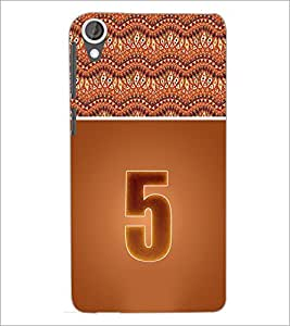 PrintDhaba Numerology Number 5 D-3637 Back Case Cover for HTC DESIRE 820 (Multi-Coloured)