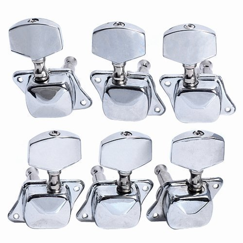 YMC Chrome-Tuning-Peg-Round220-3L3R 6 Pieces 3L3R Semiclosed Guitar Tuning Pegs Tuners Machine Heads (Acoustic Guitar Tuning Machines compare prices)