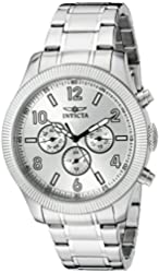Invicta Men's 20325SYB Specialty Analog Display Swiss Quartz Silver Watch