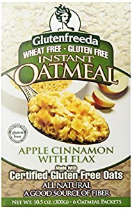 Glutenfreeda's Instant Oatmeal, Apple Cinnamon with Flax, 6-Count Packets (Pack of 8)