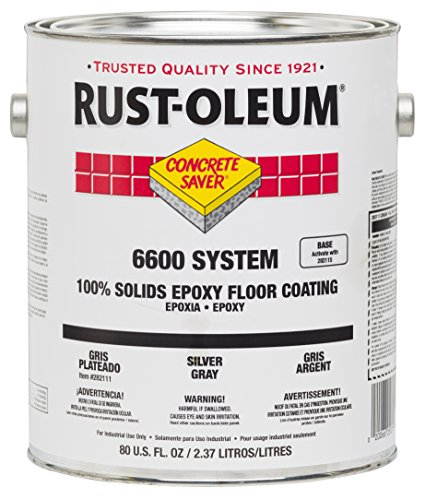 Rust-Oleum 282107 Clear 6600 System Concrete Saver Less than 100 VOC Heavy Duty Maintenance Floor Coating, 80 fl. oz. Can (Pack of 2)