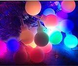 Colorful Solar String Light Lanterns For Xmas Garden Home Party Outdoor Decor