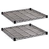 ALERA SW581818BL Industrial Wire Shelving Extra Wire Shelves, 18w x 18d, Black, 2 Shelves/Carton