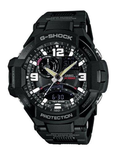 Casio GA-1000FC-1AER - Reloj de cuarzo para hombre, correa de resina color negro