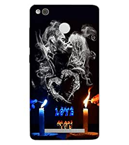 ColourCraft Love Design Back Case Cover for XIAOMI REDMI 3X