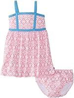 Nautica Baby Girls' Jersey Print Contrast Dress