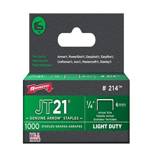 Arrow Staples for JT21 T27 Box 1000 6mm 1/4in ARRJT2114S