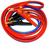 HEAVY DUTY 500 amp 6 gauge No Tangle Battery Booster Cables 12 feet with FREE travel case Jumper Cables Extra Long 12ft