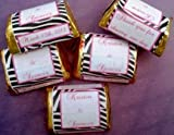 300 Zebra Themed Wedding Candy wrappers/stickers/labels (Personalized Favors)