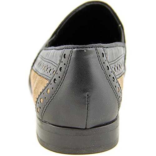 Franco Sarto Women's Tibby Oxford,Black Leather/Mohair Suede,6.5 M US