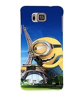 EPICCASE Minion in paris Mobile Back Case Cover For Samsung Galaxy Alpha (Designer Case)