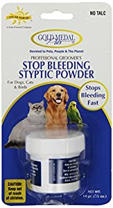 Gold Medal Pets Stop Bleeding Styptic Powder, .5 oz.