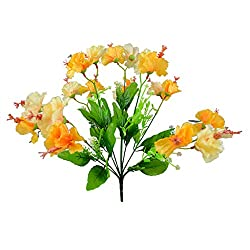 Thefancymart Artificial Flowers Silky Hibiscus Single Bunch Style Code-98