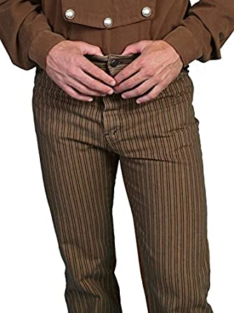 Men's Vintage Workwear – 1920s, 1930s, 1940s, 1950s Railhead Stripe Pants $84.00 AT vintagedancer.com