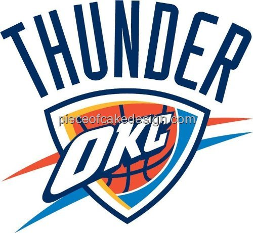 NBA Oklahoma City Thunder Edible Image