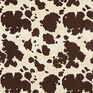 Amazon Com 54 Quot E413 Brown Cow Animal Print Microfiber