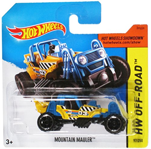 Hot Wheels Hw Off-Road Yellow/Blue Mountain Mauler on Short Card - 97/250