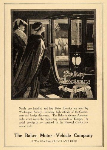 1911 Ad Baker Motor-Vehicles Shaft Driven Royal Lady Luxury Car Prestige Coach - Original Print Ad
