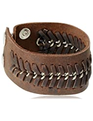 Unknown By Ayesha Strand Bracelet For Men (Brown) (45388-BRN)