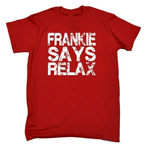 FRANKIE SAYS RELAX DISTRESSED LOOK (L - RED) NEW PREMIUM