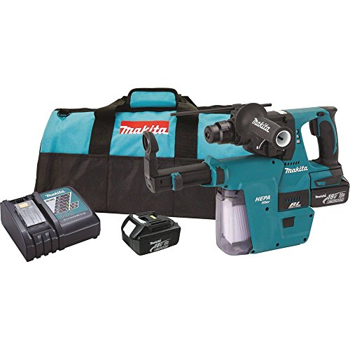Makita XRH011X 18V LXT Lithium-Ion Brushless Cordless 1-Inch Rotary Hammer Kit Accepts SDS-PLUS Bits with HEPA Vacuum Attachment (Makita Hammer Drill Sds Cordless compare prices)