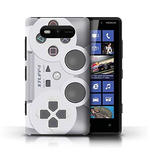 iCHOOSE Print Motif Coque de protection Case / Plastique manchon de telephone Coque pour Nokia Lumia 820 / Collection Console (jeux vidéo) / Playstation PS1