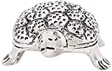 Snowfinch Alloy Crafted Carbon Small Tortoise/Turtle Figurine (Silver, 11 cm x 8 cm x 3 cm)