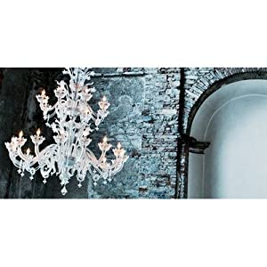 8099 Chandelier in Clear Glass Size: 190 cm H x 160 cm Dia :: Special Offers