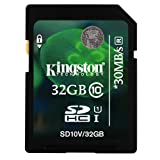 Kingston 32GB Class 10 SD SDHC Memory Card For JVC Everio GZ-E15BEK Camcorder
