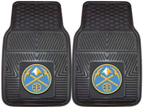 NBA Denver Nets 2-Piece Heavy Duty Vinyl Floor Car Mat Set with Logo